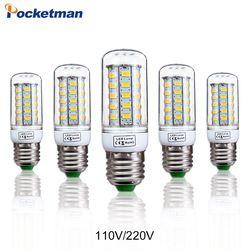 Bulbo De Milho LEVOU Lâmpada E27 E14 110/220 V SMD5730 48/69 Leds de Luz Lampada LEVOU Diodo lâmpadas Lâmpadas de Poupança de Energia de Luz para Casa Dropship