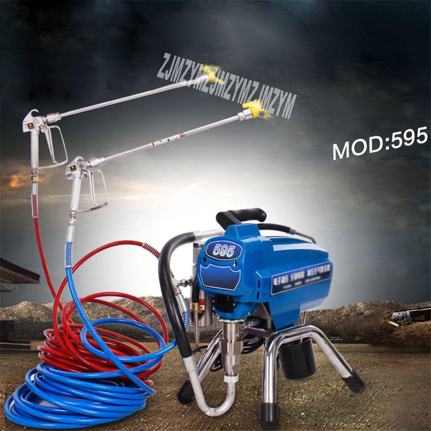 Neue 595 Elektrische Kolben hochdruck Airless Spritzen Maschine Professionelle Latex Farbe Spray Farbe Maschine 220 v 4L/ min 3000 watt