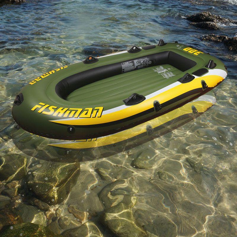 252*125*40 cm fishman 3 Person PVC dicke schlauchboot angeln aufblasbaren kajak aluminium paddel pumpe beiboot air floß A06002