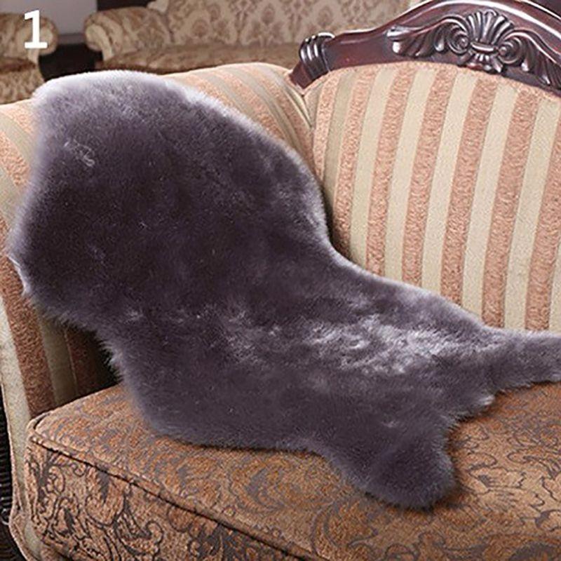 High Qulity 4 colors Soft Faux Comfort Sheepskin <font><b>Rug</b></font> Mat Carpet Pad Anti-Slip Chair Sofa Cover For Bedroom Decor