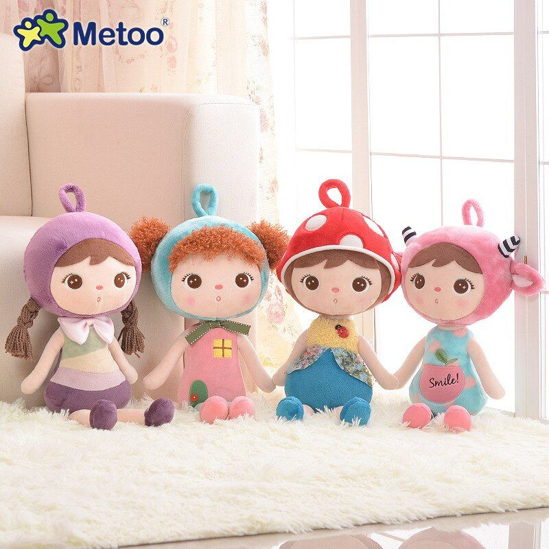 45 cm en peluche douce mignon belle peluche bébé enfants jouets pour filles anniversaire noël cadeau mignon fille quille bébé poupée Metoo poupée