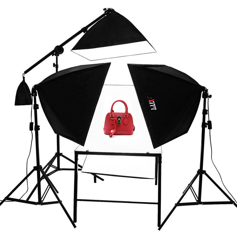 4 Licht softbox dreharbeiten Tabelle photo studio kit softbox beleuchtungs-set ohne licht blub Adearstudio NO00DC