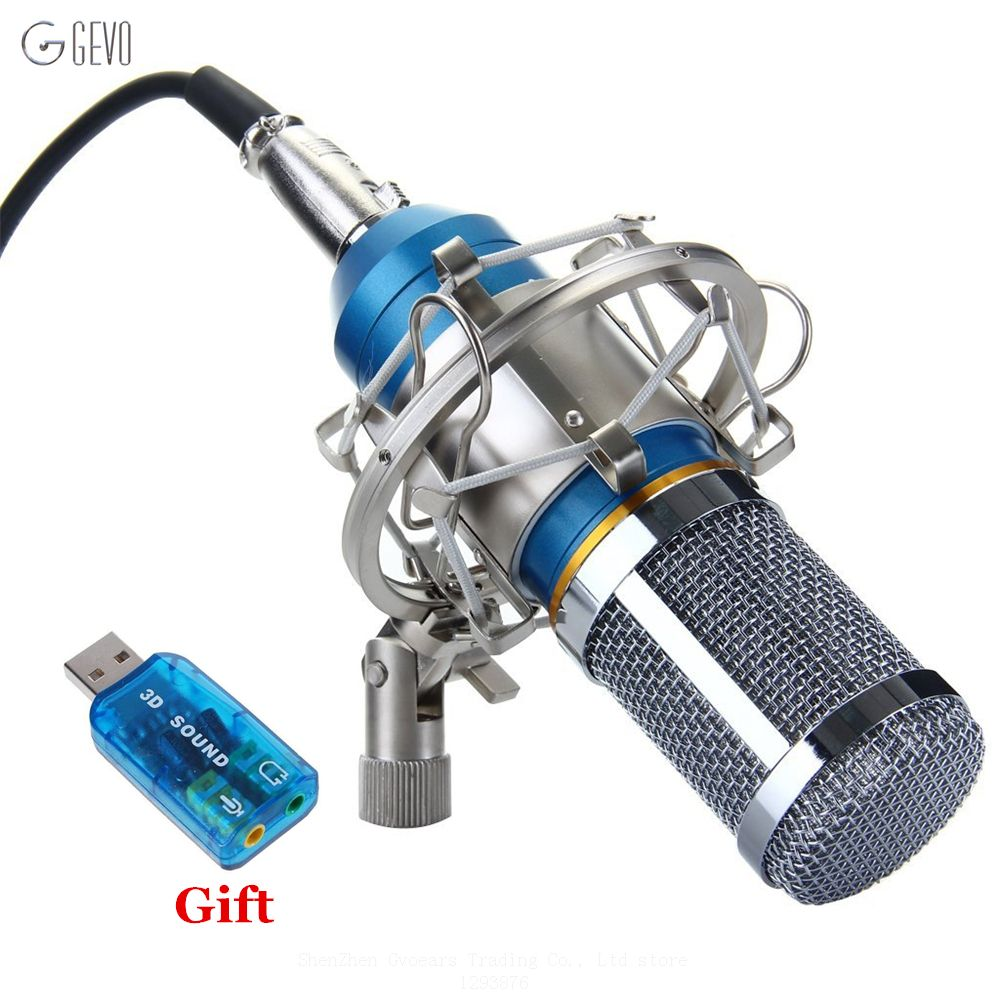BM 800 Condenser Microphone Studio Recording Professional Wired Mic BM-800 With Metal Shock Mount For Computer Video Recording