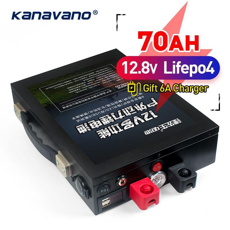 12 v 70Ah LiFePo4 batterie Tragbare outdoor notfall power versorgung mit dual USB port auto zigarette leichter + 5A EU /UNS ladegerät