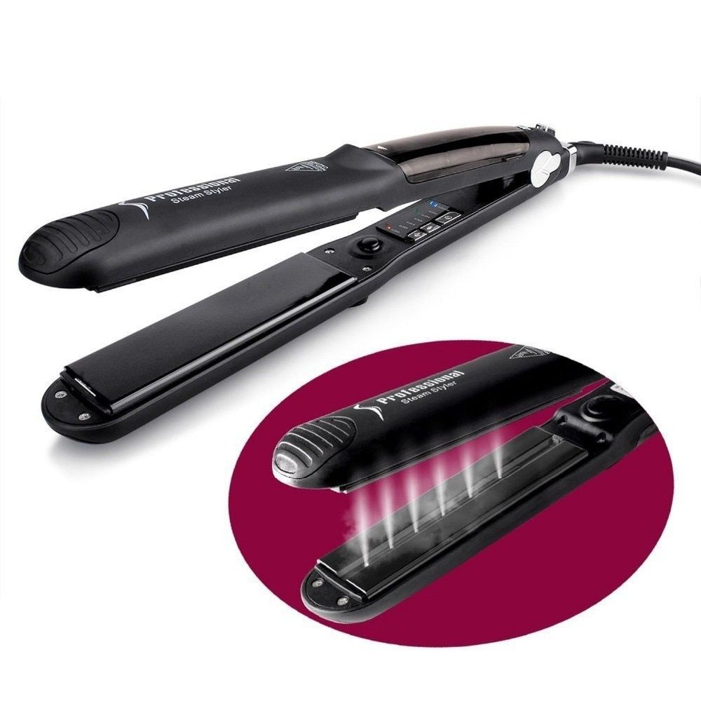 Drop Shipping Steam Ceramic Straightening Irons Temperature Ajustable Styling Tools Professional Hair Straightener Rapid Heating