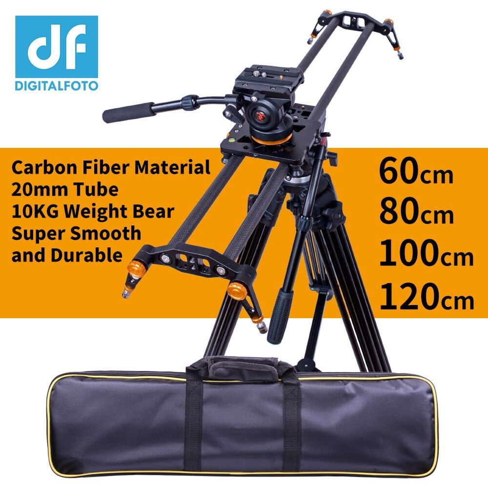 DIGITALFOTO Carbon fiber camera slider 10kg bear travel video slider dolly track dslr rail for Nikon Canon Sony videographer