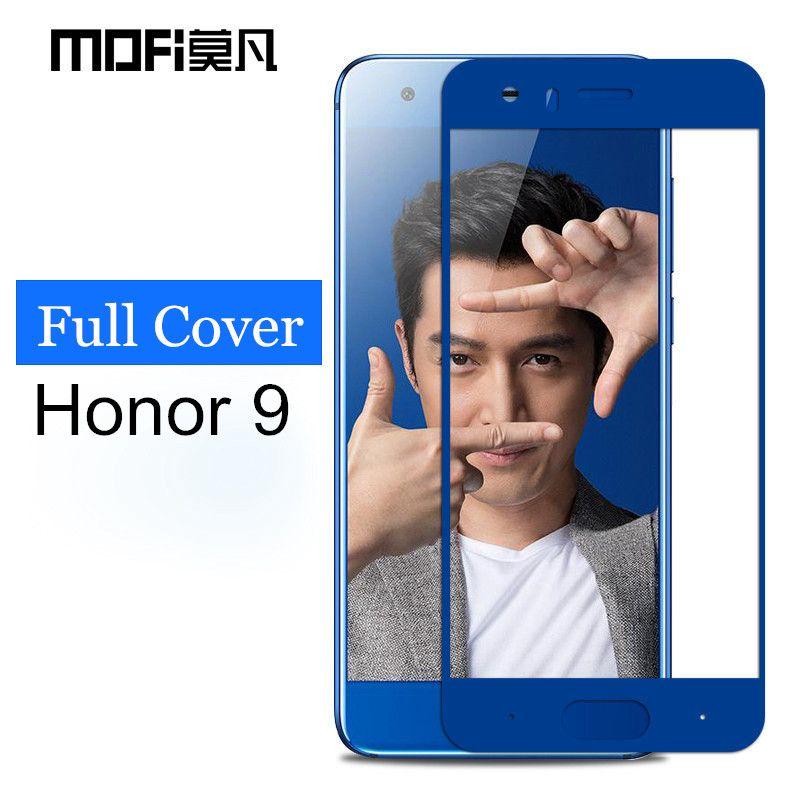 Huawei honor 9 verre trempé MOFi d'origine Huawei honor 9 écran protecteur pleine couverture 2.5D gris Huawei honor9 verre film 5.15