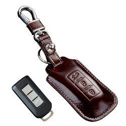 Kulit Kunci Mobil untuk Mitsubishi Outlander Lancerex ASX RVR Montero Pajero Sport Entri Tanpa Kunci Remote Kunci Case Pemegang