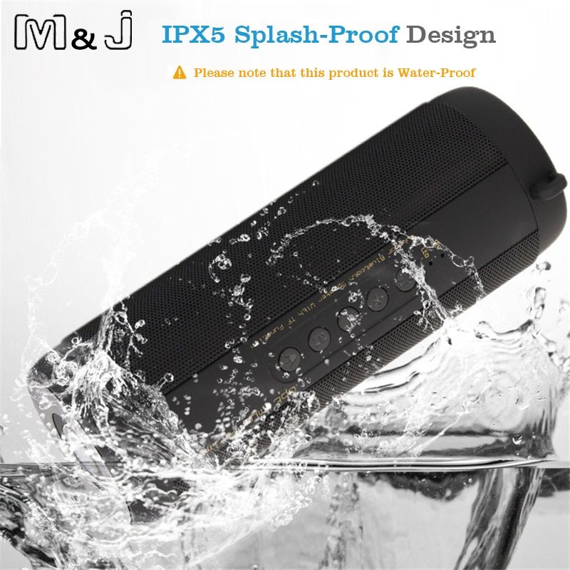M&J T2 Outdoor Waterproof Super Bass Bluetooth Speaker Mini Portable Wireless Column <font><b>Loudspeakers</b></font> Speakers for iPhone Samsung
