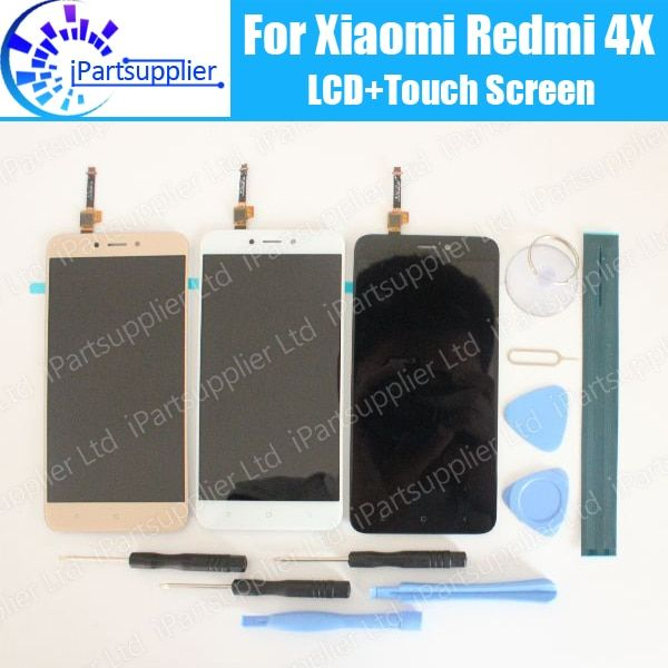 For Xiaomi <font><b>Redmi</b></font> 4X LCD Display+Touch Screen 100% Tested LCD Digitizer Glass Panel Replacement For Xiaomi <font><b>Redmi</b></font> 4X