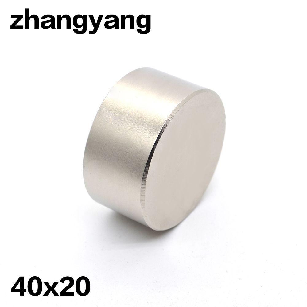 2 pièces aimant Néodyme 40x20mm gallium métal aimant super fort 40*20 Neodimio aimants eau mètres orateur électroaimant N52