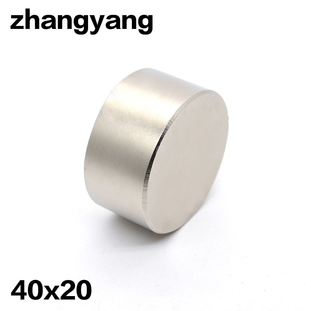 2pcs Neodymium magnet 40x20 mm gallium metal super strong magnet 40*20 Neodimio magnets water meters speaker electromagnet N52