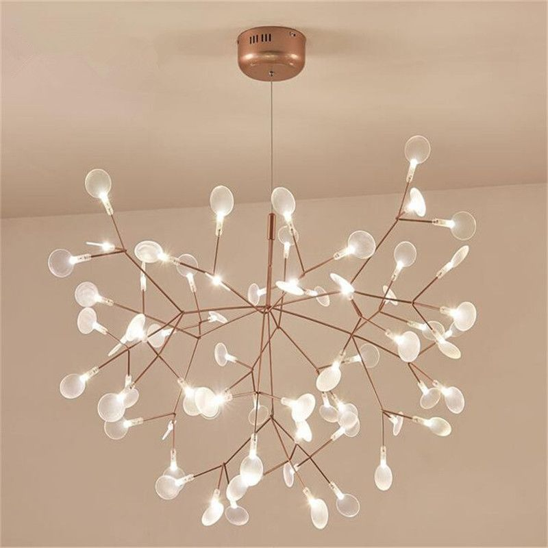 Minimalist Firefly Chandeliers Light LED Chandelier Pendant Lustre For Bedroom shop G4 Nordic Luminaire Hanging Light 110-220V