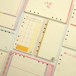 A5 A6 Mignon Couleur Diario Recharges Liant Charge Papier Planificateur Organisateur Accessoires Papier De Bourrage Pour Filofax
