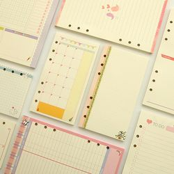 A5 A6 lindo coloreado diario recargas BINDER filler Paper Planner organizador accesorios papel de relleno para filofax
