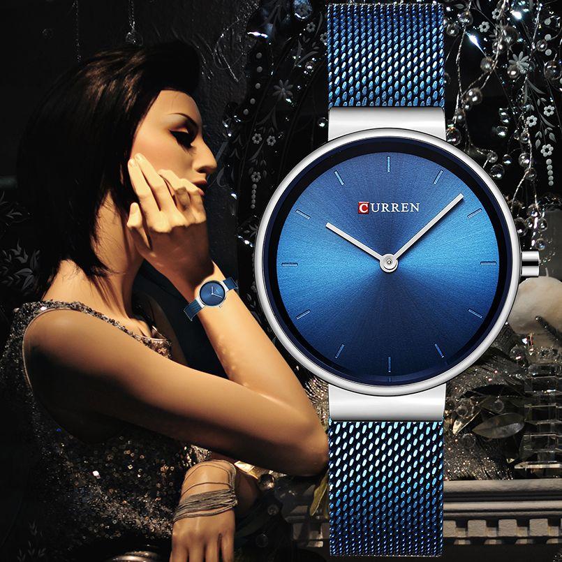 CURREN Brand Fashion Wristwatches Women Stainless Steel Band Women Dress Watches Women Quartz-Watch Relogio Feminino New