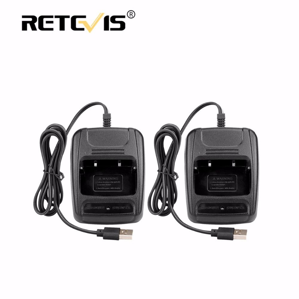 2pcs USB Li-ion Radio Battery Charger Input 5V 1A For Baofeng BF-888S bf888S Retevis H777 H-777 Walkie Talkie USB Charger J9104E