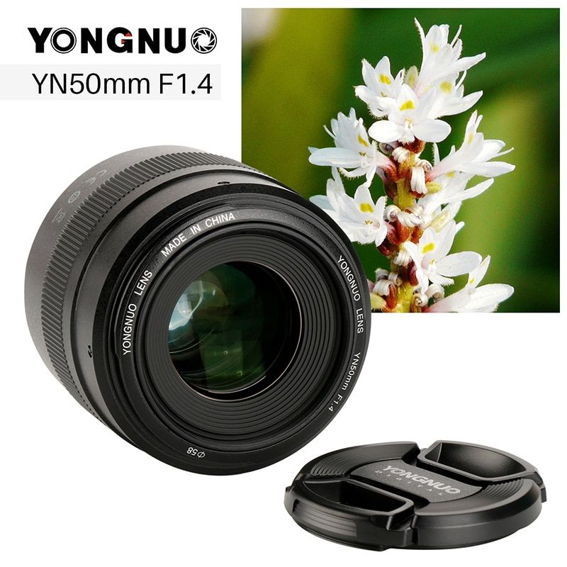 YONGNUO YN50mm F1.4 Large Aperture Camera Lens for Canon Fixed EF Living Lenses with USB Port for EOS