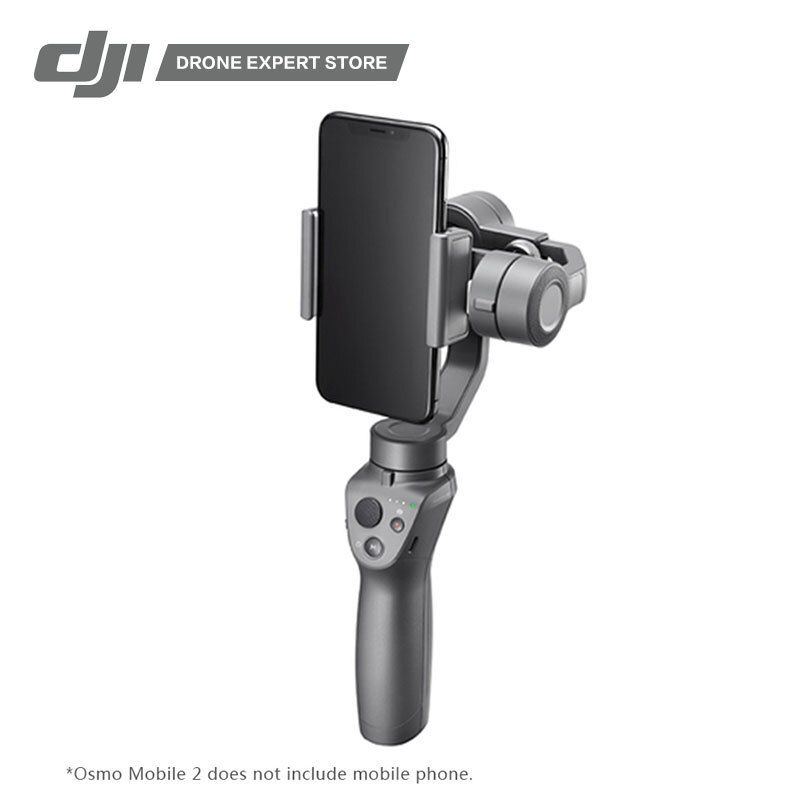 Original DJI Osmo Mobile 2 Handheld Stabilizer with Motion Timelapse/Zoom Control/Panorama Gimbal for Mobile Phone Photography