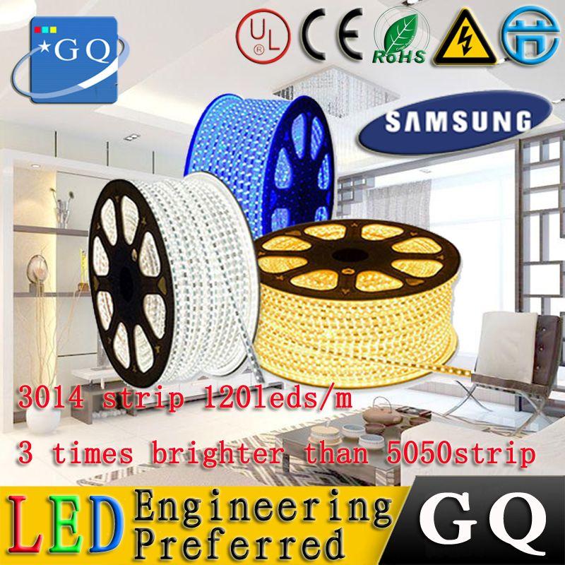 CP (120 leds/m) 3014 led-streifen 220 V 230 v 240 v String band LED flexible streifen licht weißes warmes string festival Beleuchtung lampe