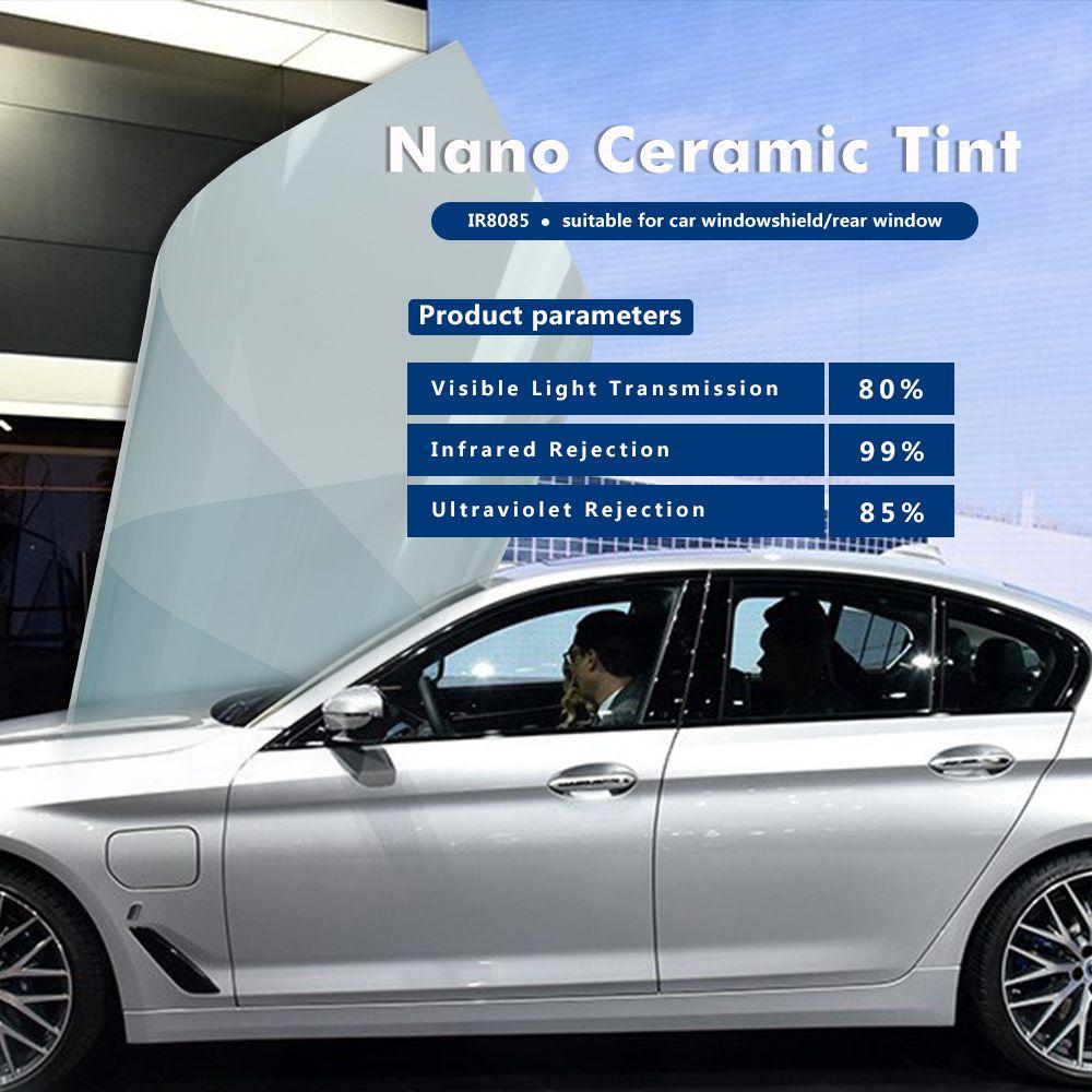 80% VLT IR8085 Frontscheibe Sonnenschutz Nano keramik/IR film 60inx100ft (1,52x30 mt)