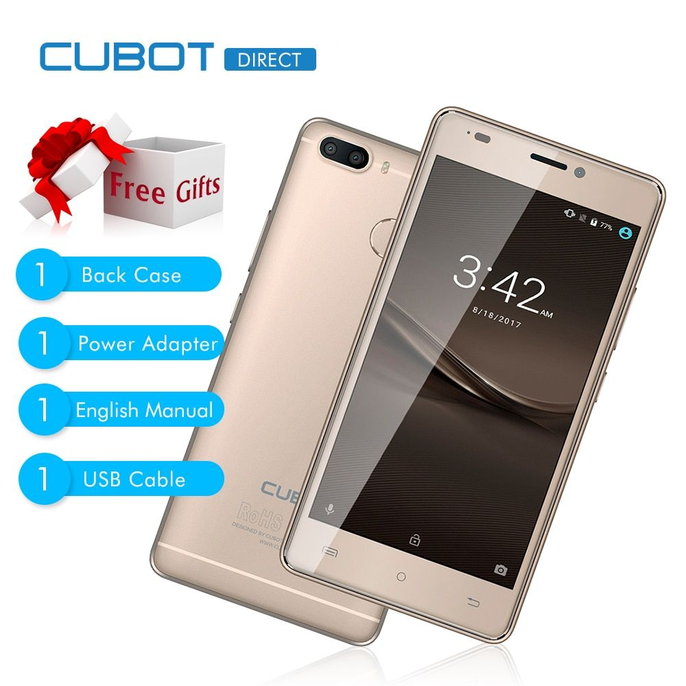 Original CUBOT H3 5.0 Inch 4G Smartphone Android 7.0 MTK6737 Quad Core 3GB And 32GB 6000mAh Battery 13.0MP 0.3MP Rear Cameras