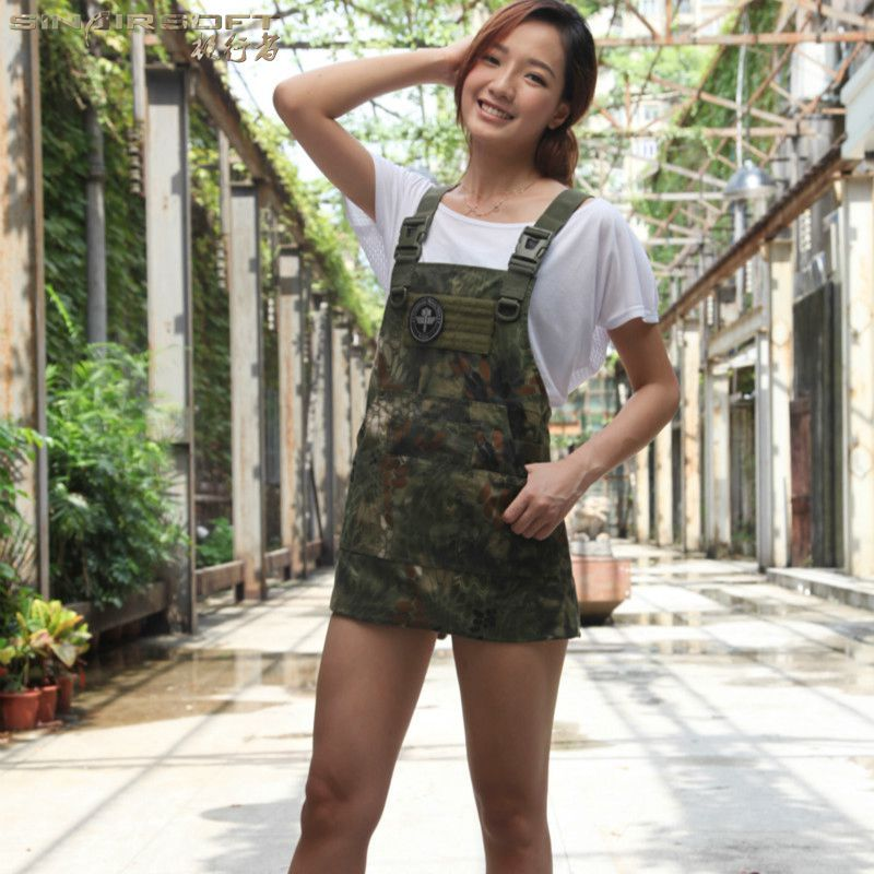Unisex Sleeveless Tactical Apron Pinafore Camouflage Technician Mechanic Aprons Tactical Gears Multicam 11 Color-options