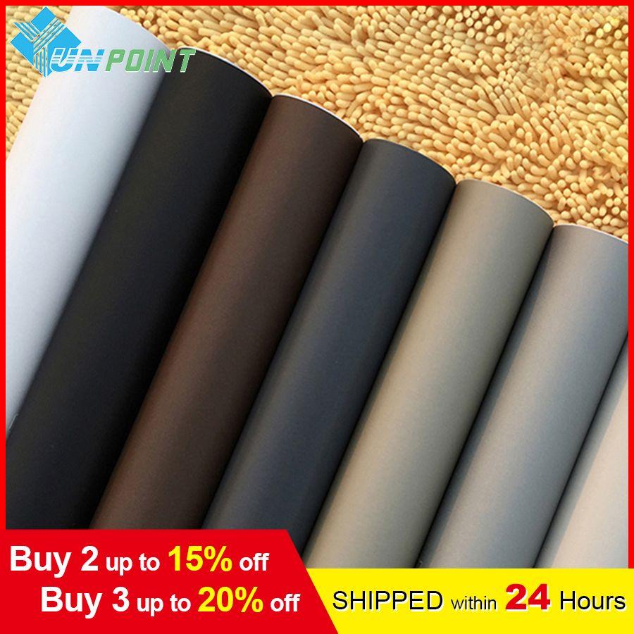 60cm * 3M solide mat vinyle auto-adhésif papier peint bricolage étanche Stickers muraux décor à la maison Films salon cuisine porte affiche