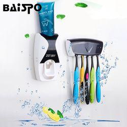 BAISPO Мода Автоматический Диспенсер зубной пасты, для зубной щетки держатель Ванная комната Продукты настенный держатель для ванной комнаты,...
