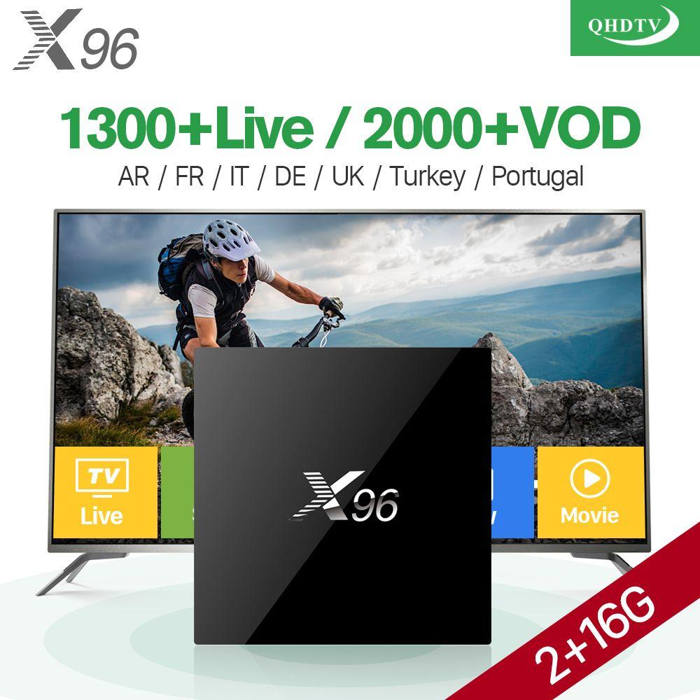 X96 French Iptv Subscription Box 2G 16G Android 6.0 Arabic IPTV Europe Spain Belgium UK Abonnement IPTV Netherlands Qhdtv Code