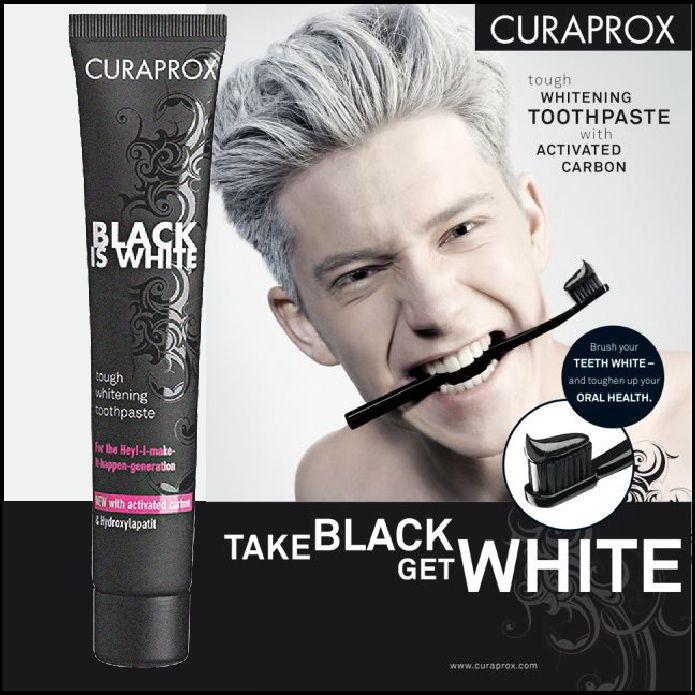 Курапрокс черный белый уголь отбеливающая зубная паста 90 мл Зубная паста Crest активированный уголь здоровья полости рта