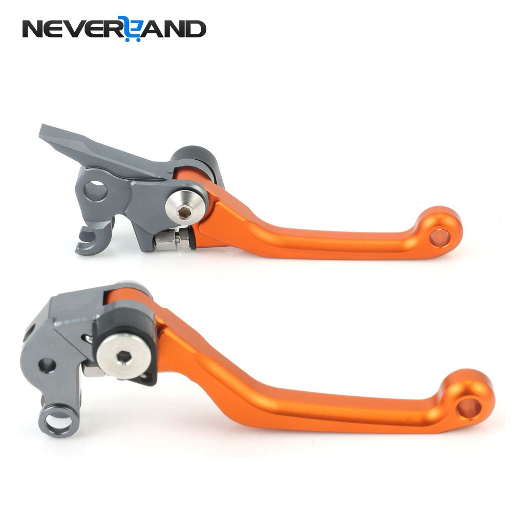 NEVERLAND Orange CNC Pivot Brake Ctutch Levers For KTM 125 EXC/SX 2005 2006 2007 2008 Magura Motorcycle Accessories