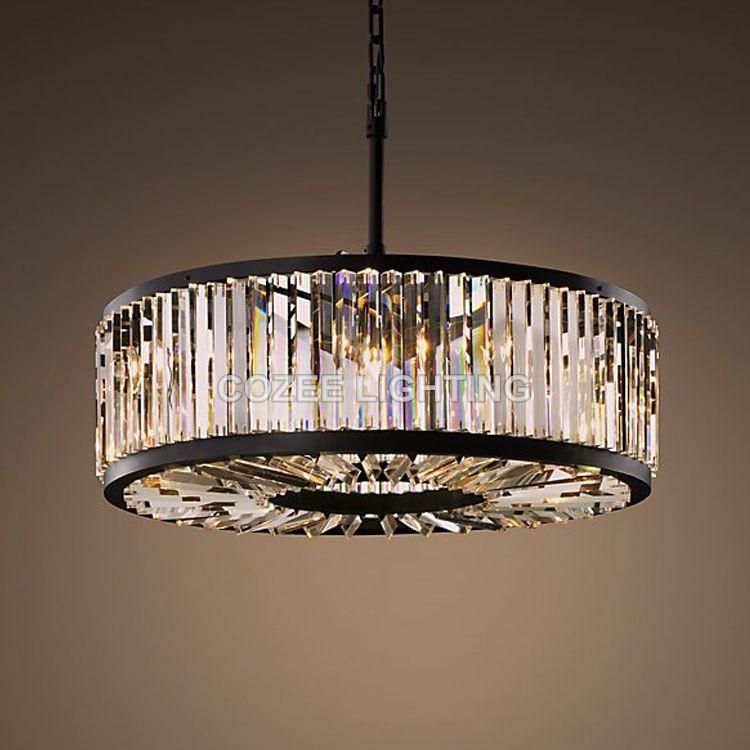 Vintage Chandeliers LED Lighting Modern Crystal Prism Chandelier Light lustres de cristal for Home Hotel Wedding Decoration