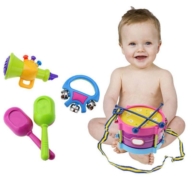 5pcs/Set Children Drum Rattles Toy Educational Game Instrument Assembly Toy -17 BM88