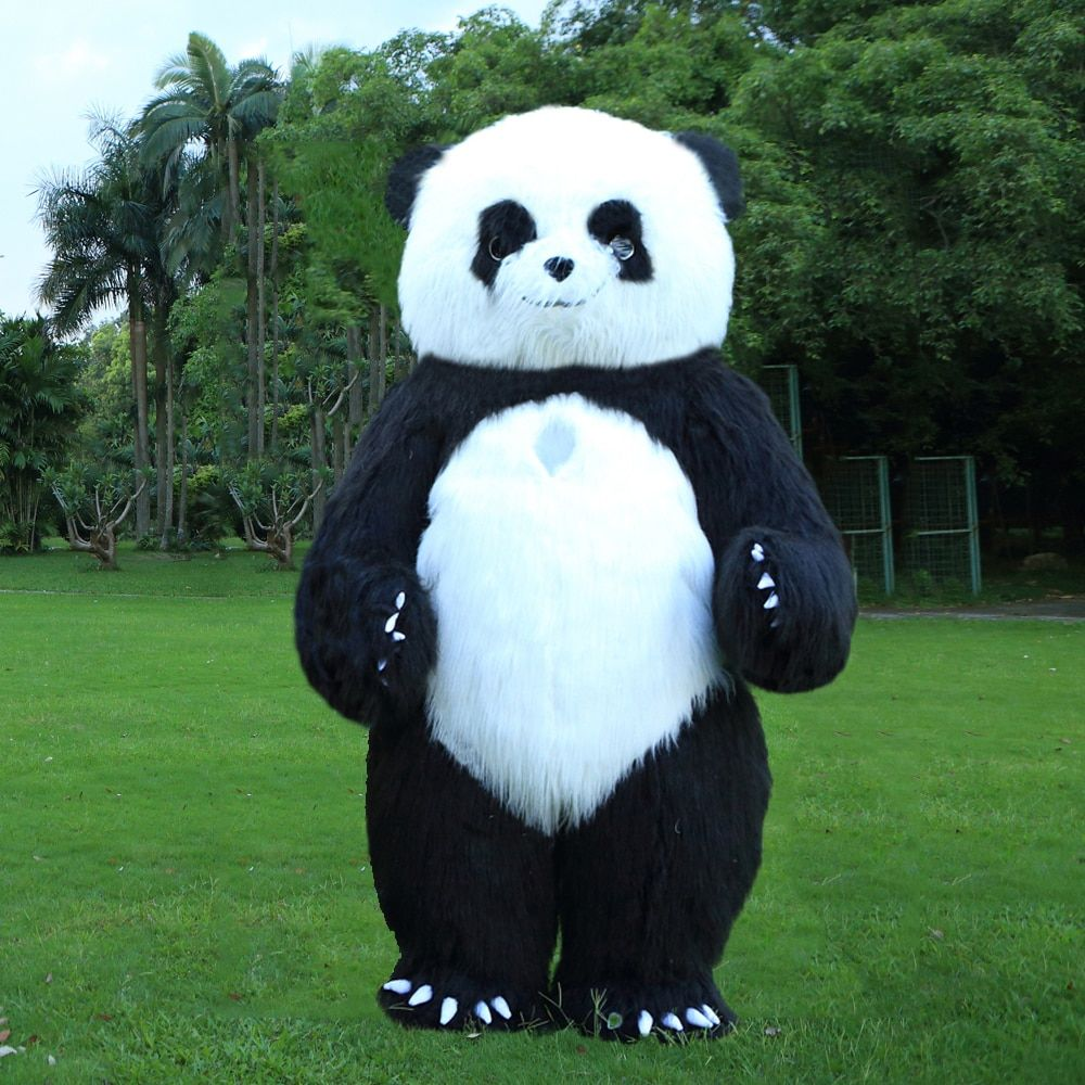 New Style 2.6M Inflatable Panda Costume Inflatable Panda For Advertising Customize For Adult Suitable For 1.7m To 1.9m Adult