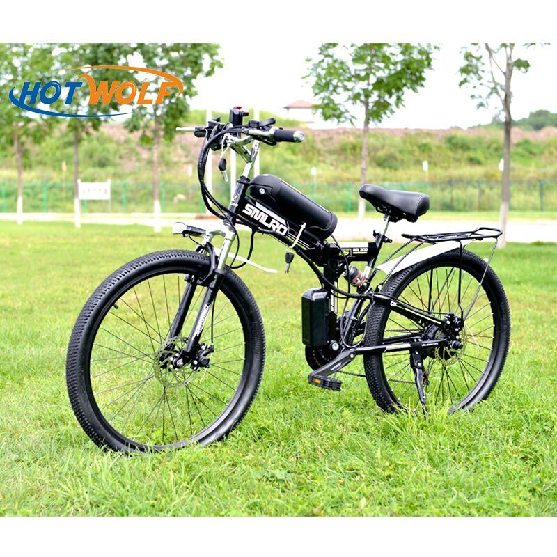 26 inch Electric Bicycle 48V 10.8ah Lithium Battery Electric Mountain Bike <font><b>350W</b></font> Motor Foldable EBike powerful Electric Bike