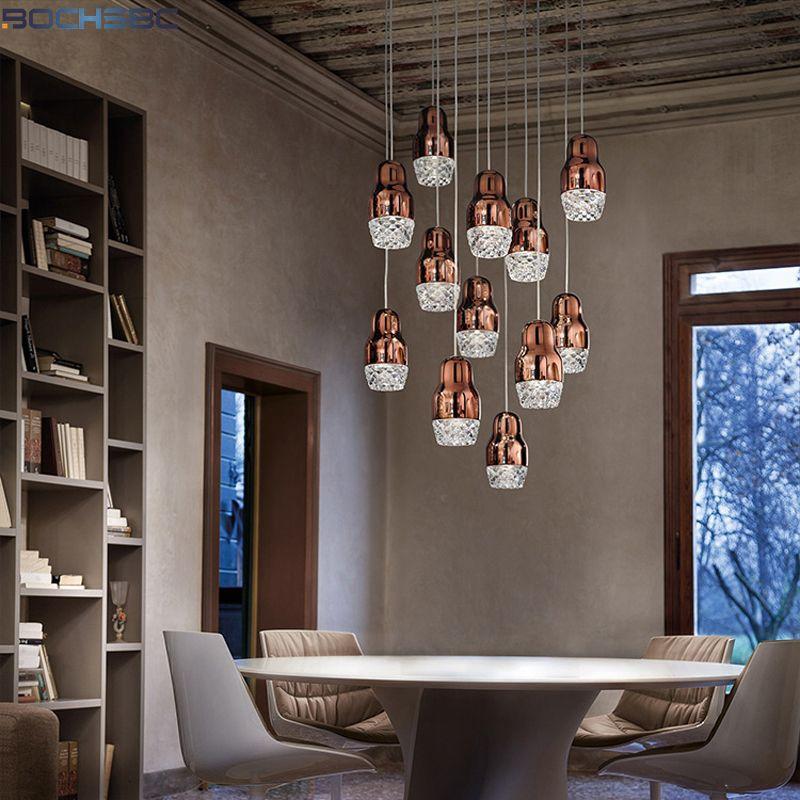 BOCHSBC Kreative Design Kronleuchter für Wohnzimmer Schlafzimmer Esszimmer Gang LED Hängen Lampe Leuchten