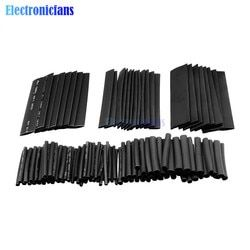 New 127Pcs Black Glue Weatherproof Heat Shrink Sleeving Tubing Tube Assortment Kit Flame Retardant Wholesale
