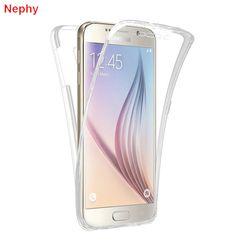 Nephy Cas de Téléphone portable pour Samsung galaxy S3 duos S4 S5 neo S6 S7 bord S8 Plus Note 3 4 5 Core Grand-Premier 360 plein Effacer Cover