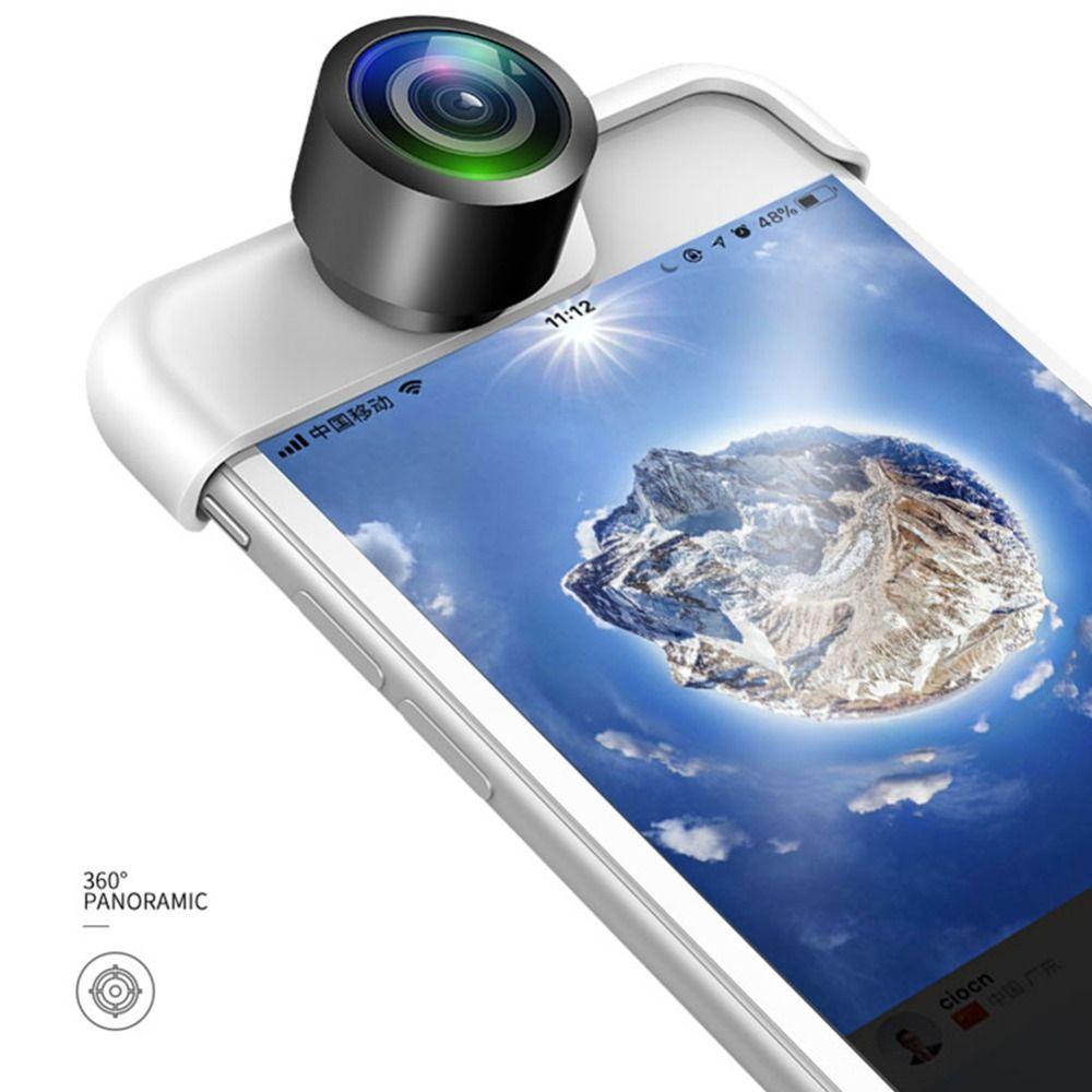 Original 360 Panoramic Camera Lens 2PCS Phone Lens For iPhone 7 X 6 6s Plus 8 8 Plus Webcam Cover Lente Para Celular