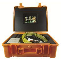 20 M Fiberglass Kabel 7 Inch Monitor Selokan Inspeksi Peralatan dengan Tahan Air 23 Mm Kepala Kamera