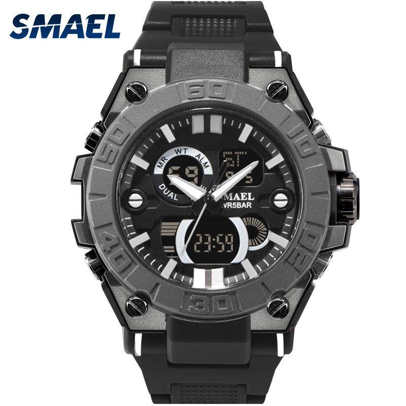 NEW Wrist Watch For Men Black Waterproof 50M Shock Resitant Digital Watch Men Military Clock 8003 Male Clock Relogio Masculino