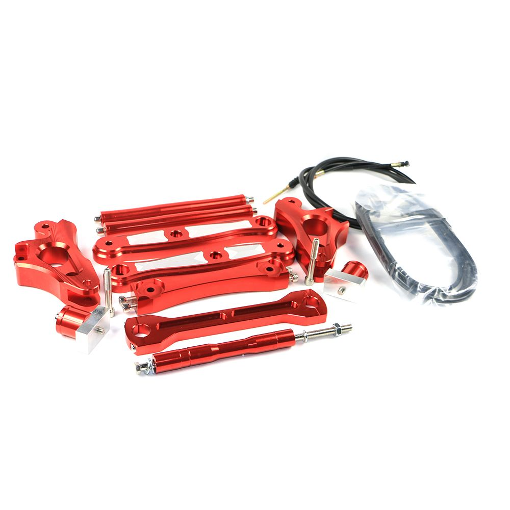 Motorcycle Scooter CNC Aluminum Alloy 15cm Lengthen Metal Saddle Bag Support Bar Mounting Brackets For Yamaha BWS X 125