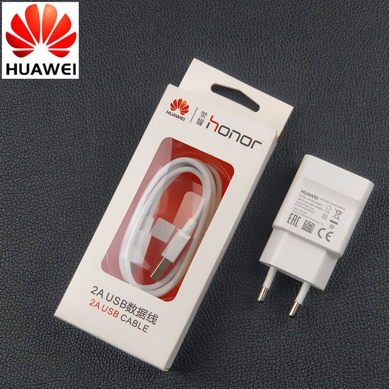 Original EU Huawei Honor 8X Charger For p10 p9 p8 lite Honor 7x 6 6a y6 Y5 6x 6c 5c mate 8 7 5V/2A Usb Wall Adaptor charge Cable