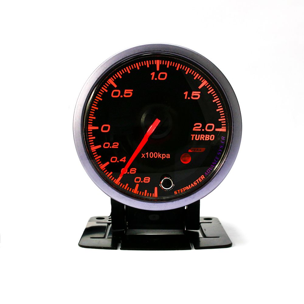 New Universal 60mm Turbo Boost Gauge Black Shell Amber/White Light Turbo Gauge Car Styling Racing Meter auto Gauge Meter