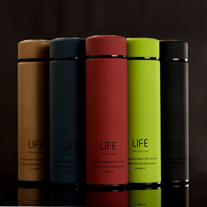 500ml High Quality Fashion Stainless Steel Water Bottles Insulation bottle Sport Shatterproof Lemon Soda Space bottle
