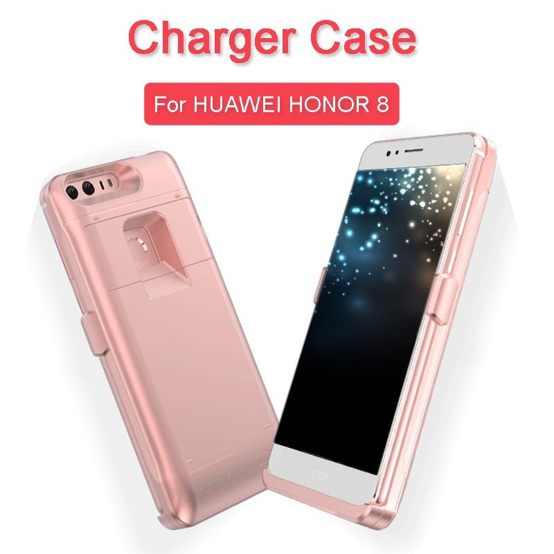 Battery Case for Huawei Honor 8 Portable Ultra Thin Backshell Wireless Charge Case External Battery Power Bank Kickstand Case