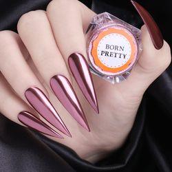 Rose Or Miroir Ongles Glitter Poudre Chrome Pigment Poussière Shinning Glitters Manucure Nail Art Gel Polonais Décorations