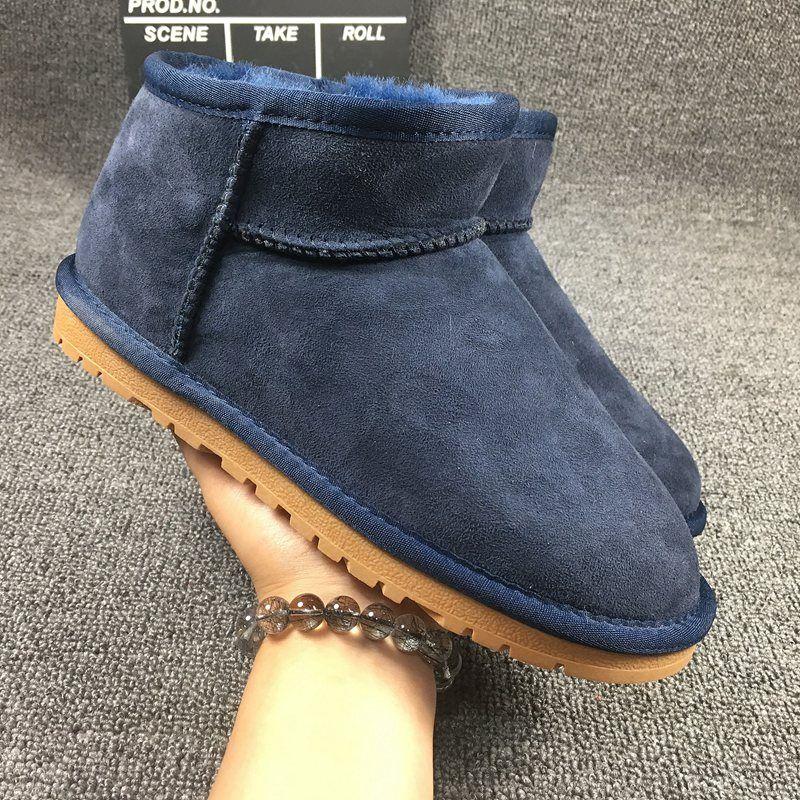 2017 nueva 100% piel de oveja natural, una moda casual botas de nieve, botas de mujer, cilindro corto botas, entrega gratuita