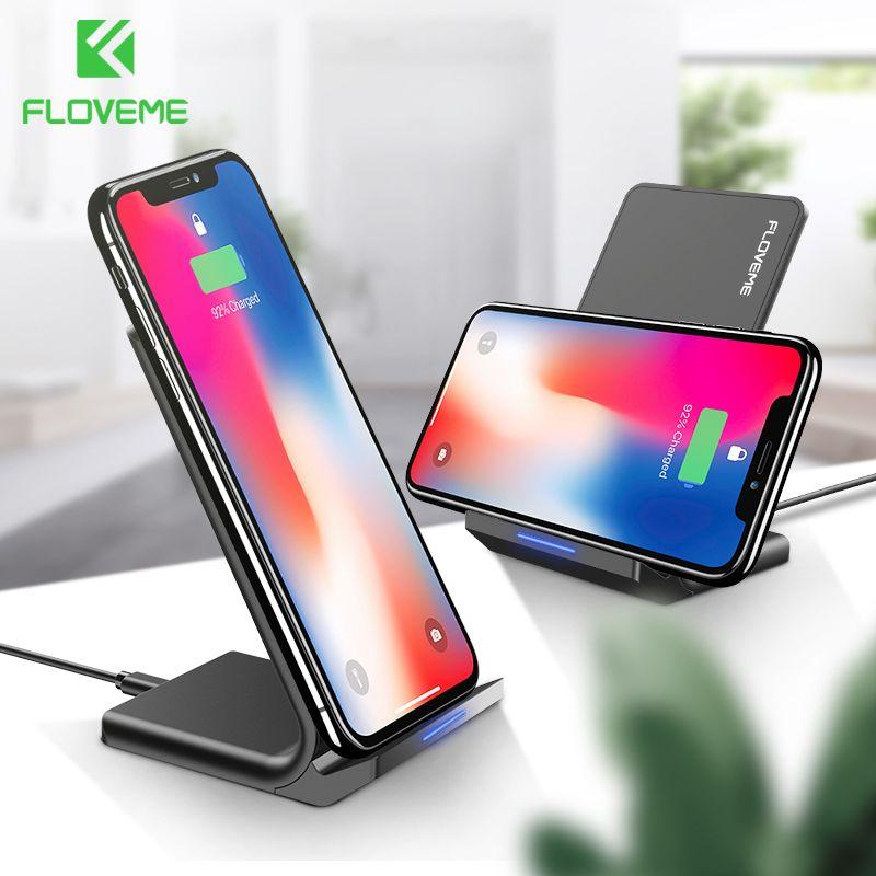 FLOVEME 10 W Qi chargeur sans fil pour iPhone 8 X Xs pour Samsung Galaxy S10 Plus S8 S9 S7 Edge chargeur rapide Dock de charge sans fil